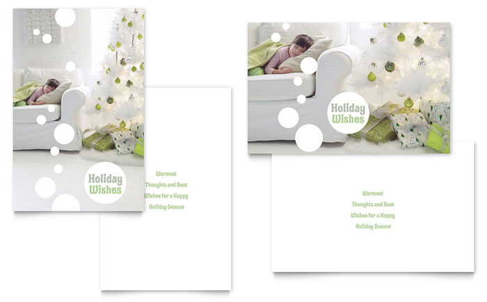 Christmas Dreams Greeting Card Template Design - Christmas greeting card template
