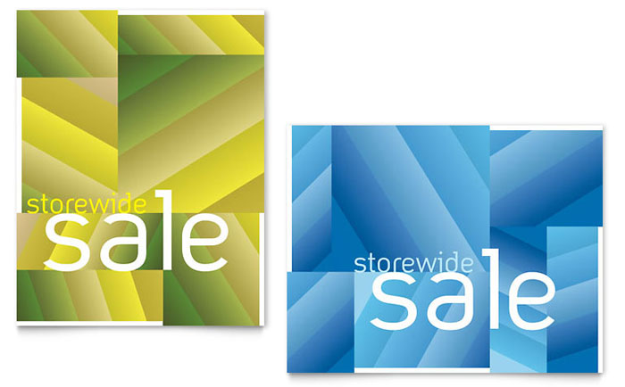 Storewide Clearance Sale Poster Template Design Download - InDesign, Illustrator, Word, Publisher, Pages