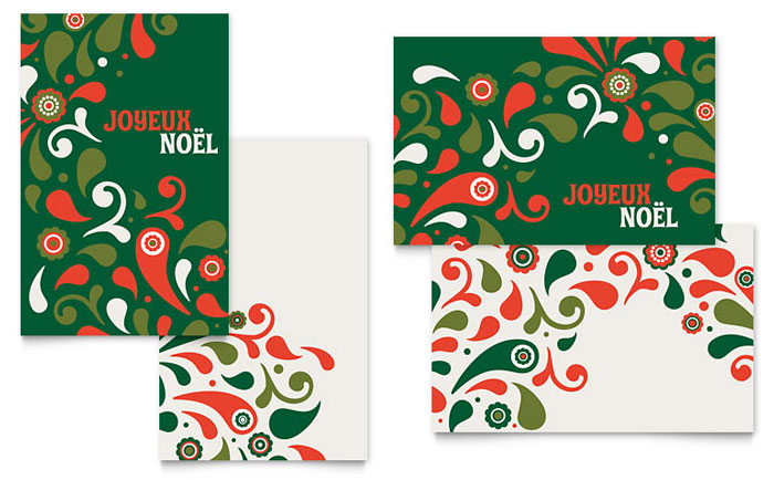 Festive Holiday Greeting Card Template Design Indesign Ilrator Word Publisher Pages