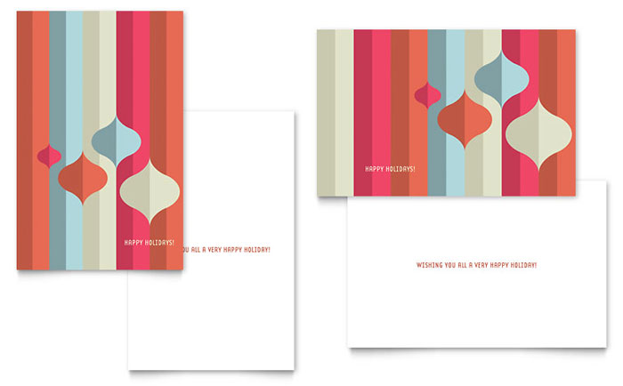 Modern ornaments greeting card template design m4hsunfo