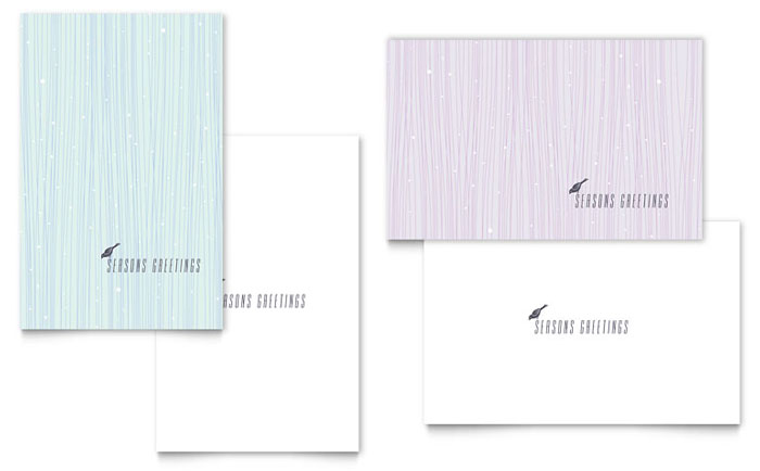 Snow Bird Greeting Card Template Design Download - InDesign, Illustrator, Word, Publisher, Pages
