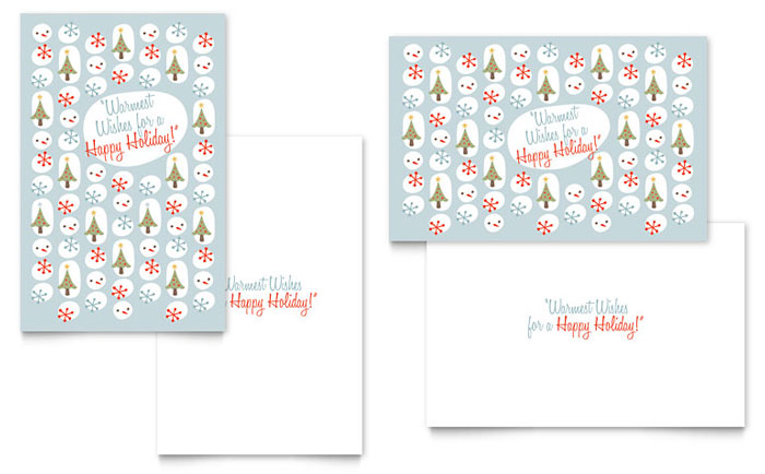 Happy Holidays Greeting Card Template Design Download - InDesign, Illustrator, Word, Publisher, Pages