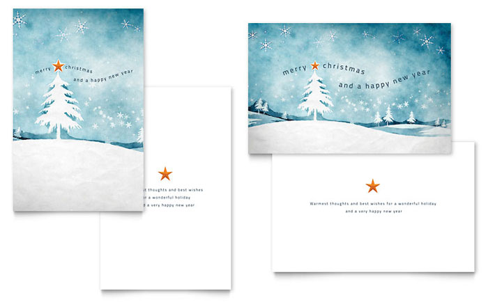 Winter landscape greeting card template design m4hsunfo