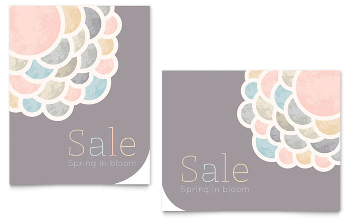 Spring Bloom Sale Poster Design Idea
