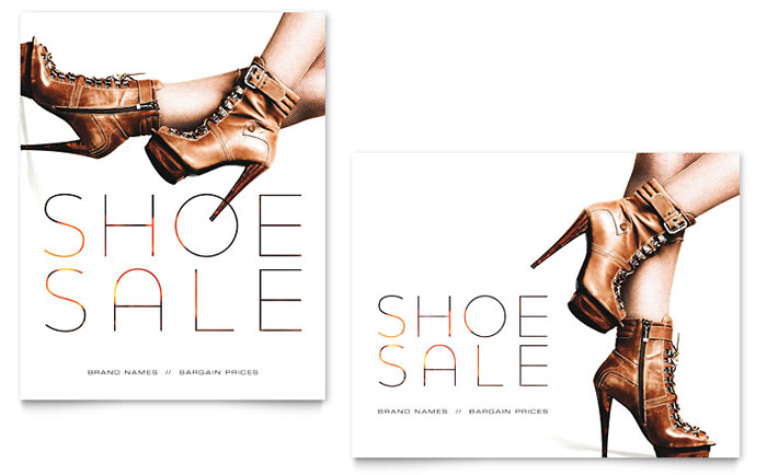 Designer Shoes Sale Poster Design Idea