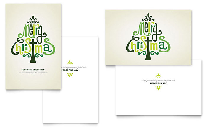 Contemporary Christian Greeting Card Template Design