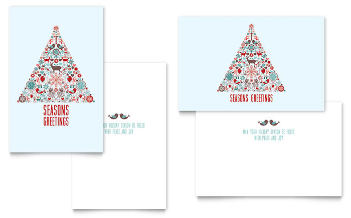 Holiday Art Greeting Card Template Design Indesign Ilrator Word Publisher Pages