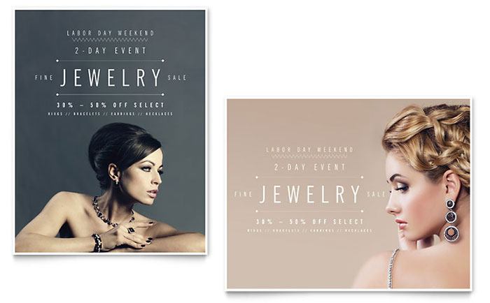 Fine Jewelry Sale Poster Template Design