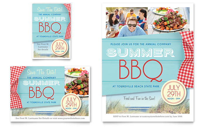 Summer Bbq Flyer  Ad Template Design