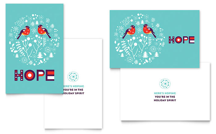 Hope greeting card template design m4hsunfo