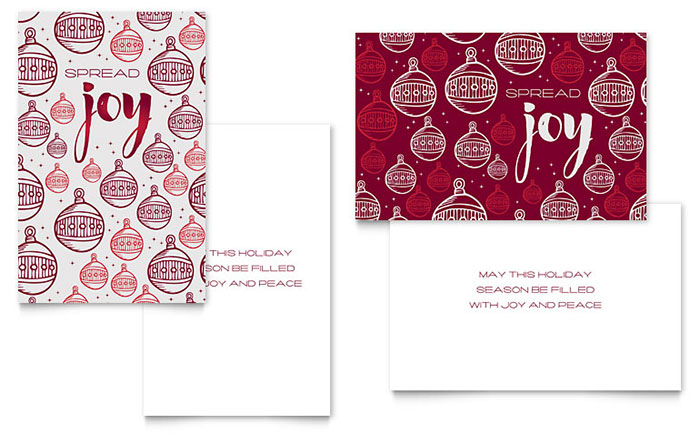 Joy Greeting Card Template Design Download - InDesign, Illustrator, Word, Publisher, Pages