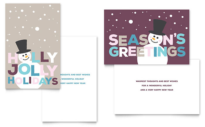 Jolly holidays greeting card template design m4hsunfo