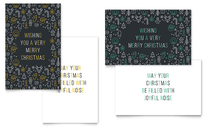 Christmas wishes greeting card template design spiritdancerdesigns