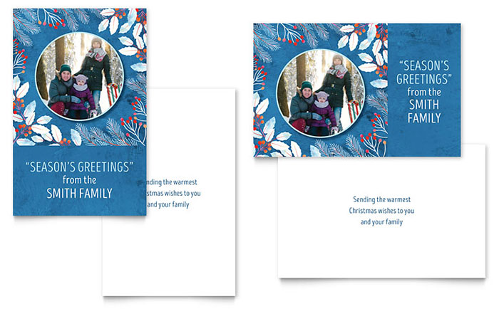 Family Portrait Greeting Card Template Design Download - InDesign, Illustrator, Word, Publisher, Pages