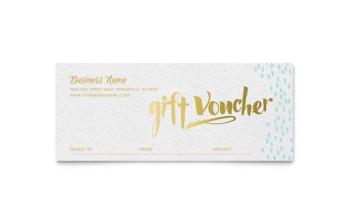 Elegant gold foil gift certificate template design for Free beauty gift voucher template