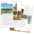Farming & Agriculture Datasheet Design