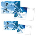 Ski & Snowboard Instructor Postcard Design